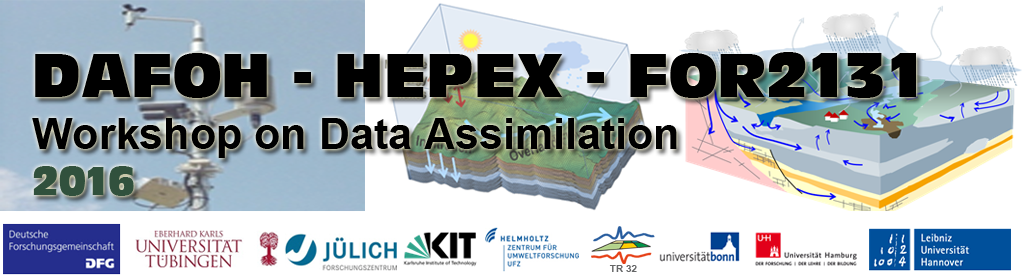 Workshop 2016 Data Assimilation